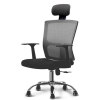 Stylish POSH High Mesh Back Office Chair with Headrest (Black) Office Chairs Office Furniture