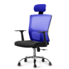 Stylish POSH High Mesh Back Office Chair with Headrest (Blue) Office Chairs Office Furniture