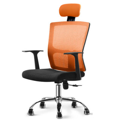 Stylish POSH High Mesh Back Office Chair with Headrest (Orange)