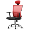 Stylish POSH High Mesh Back Office Chair with Headrest (Red) Office Chairs Office Furniture