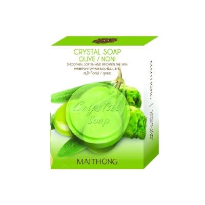 Thai Maithong Crystal Soap (Olive/Noni)