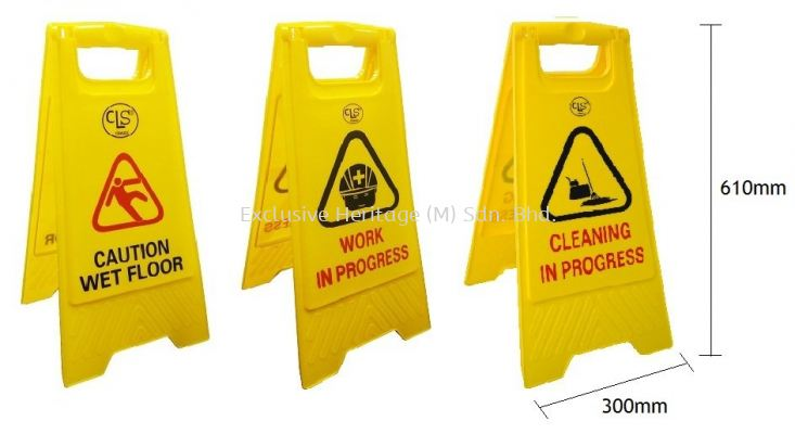 A-Standing Caution Sign