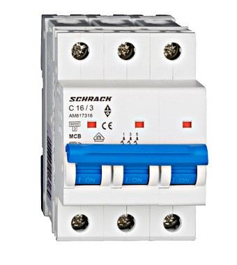 Miniature Circuit Breaker (MCB) AMPARO, 3 Pole