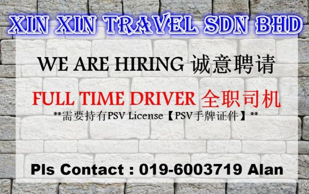 📣FULL TIME DRIVER HIRING👨🏻‍✈🚙
