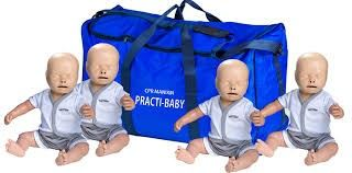 PM-PB004B Pract-Baby CPR Mainikn 4-Pack with Carry Bag
