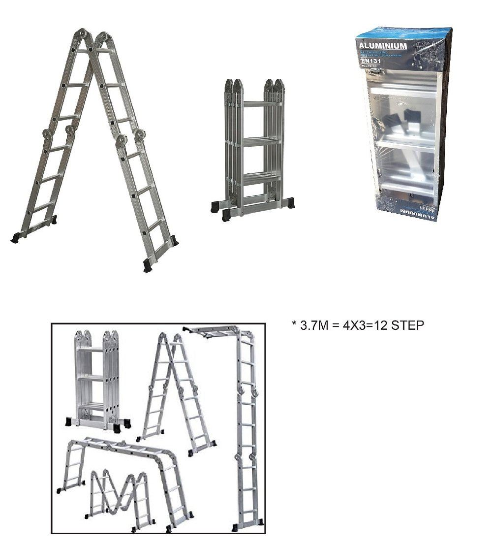 3 7M MULTI PURPOSE ALUMINUM LADDER [4X3=12]-00326T LADDER V1