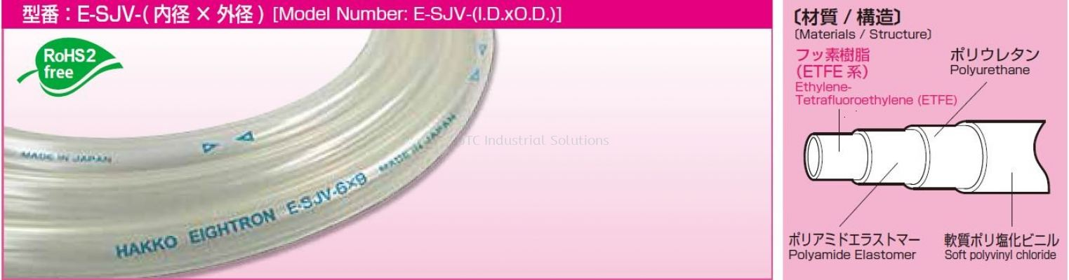E-SJV Flexible Fluorine (ETFE) Resin Tubing (PVC TYPE)