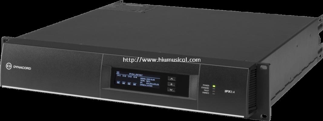 IPX5:4 4 x 1250 W multi-channel installation DSP Class-D amplifier