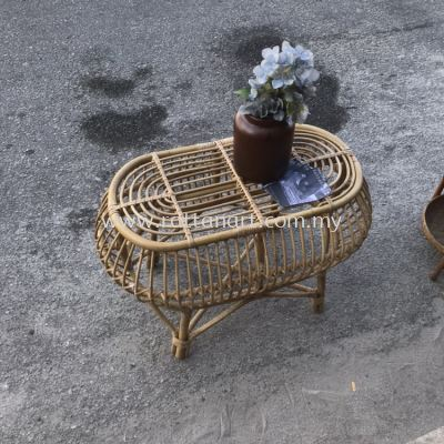 RATTAN COFFEE TABLE DRUM