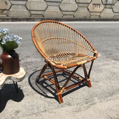 RATTAN LOUNGE CHAIR FULL HAMI