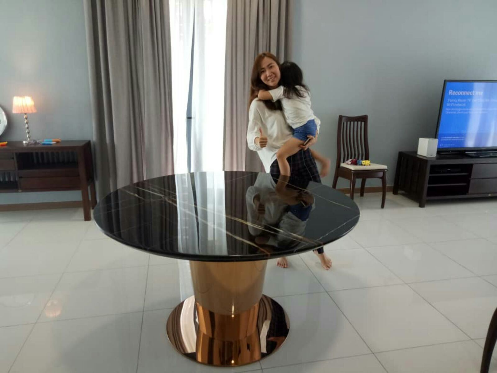 Black Marble Dining Table From Tunisia - St. Luarent Marble