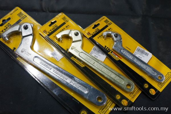 SMFTOOLS Adjustable Wrench (Round Head)