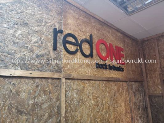 Red one network sdn bhd 3D box up lettering signage