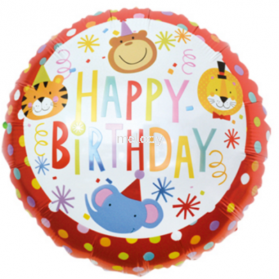 "Foil 18"" Animal H.Birthday"