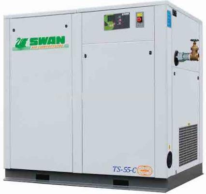 """SWAN Screw Air Comp 13Bar, 8.6m3/min, 75HP, 2"""", 1350kg TS-55C"""