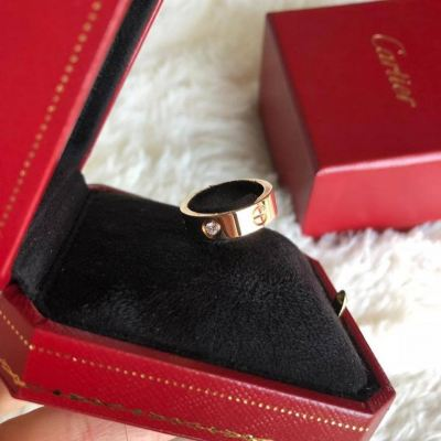 (SOLD) Brand New Unused Cartier Rose Gold Love 3 Diamonds Rings