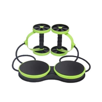 5 In 1 Ab Roller Pull Rope Abdominal Slim Fit Puller (Green)