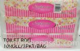 Toilet Roll (10 Roll/3PKT/Bag) Toilet Paper Roll / Pull Tissue