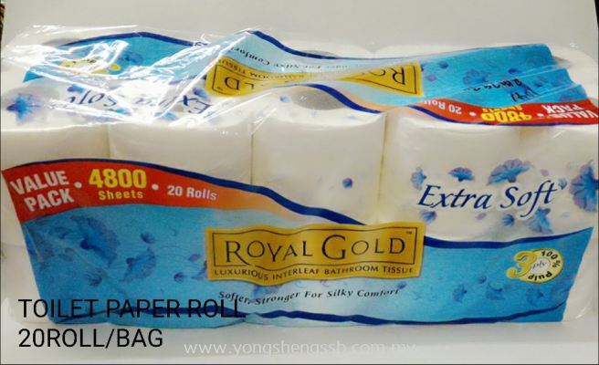 Toilet Paper Roll (20 Roll/Bag)