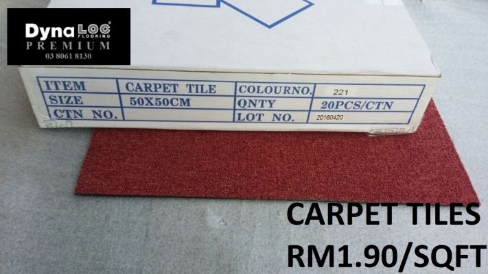 Carpet Tiles - Red ( CPT-221 )