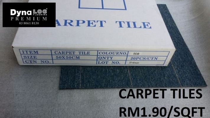 Carpet Tiles - Sky Blue Line ( CPT-508 )