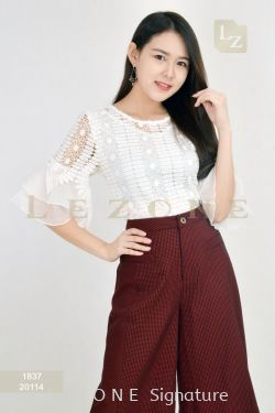 1837 BENNYPHIL LACE BLOUSE【Online Exclusive Promo 41% OFF】