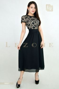 18527 LACE TOP MIDI DRESS 【1ST 10% 2ND 15% 3RD 20%】
