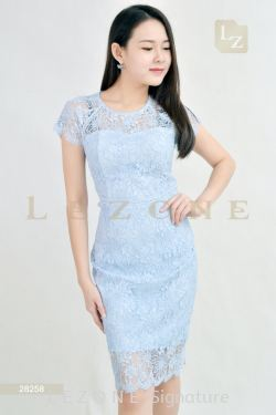 28258 LACE OVERLAY DRESS