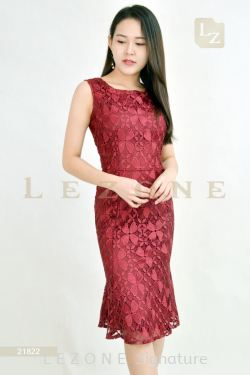 21822 LACE RUFFLE DRESS【BUY 2 FREE 3】
