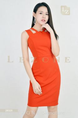 28325 THICK SHOULDER STRAP DRESS