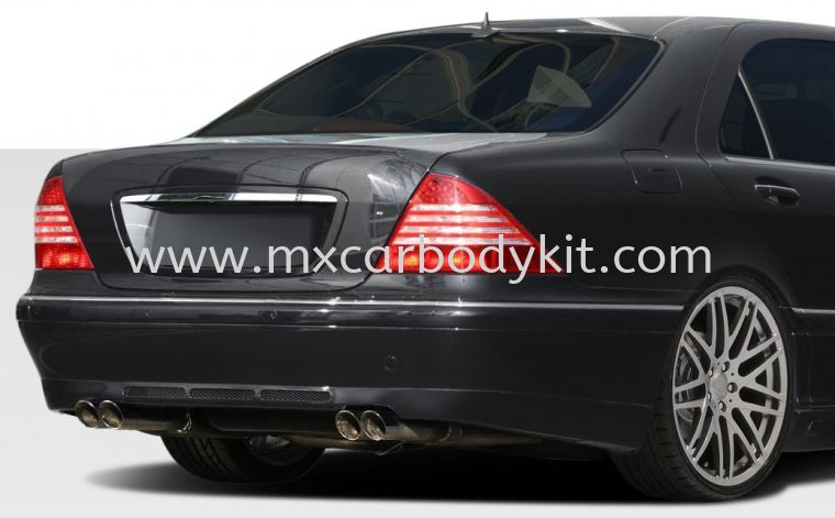 MERCEDES BENZ W220 BRABUS DESIGN REAR BUMPER W220 (S CLASS) MERCEDES BENZ