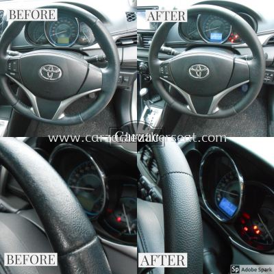 TOYOTA VIOS 2014 REPLACE STEERING LEATHER