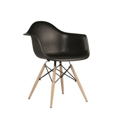 Creative Eames Curvy Design Chairs with Armchair (Black)