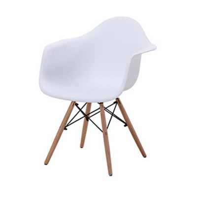 Creative Eames Curvy Design Chairs with Armchair (White)