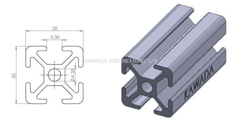 Aluminium Profile 20 X 20