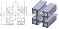 Aluminium Profile 40 X 40 (Heavy Duty)  H8 Series Aluminium Profile