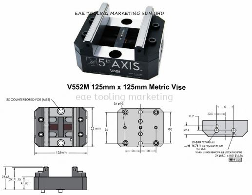 USA 5th Axis Self-Centering Metric Vises