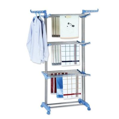 3 Tier Stainless Steel Foldable Korean Hanging Drying Rack
