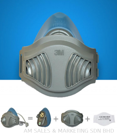 3M Silicone Mask HF52 + 1700 retainer + 1744 filter