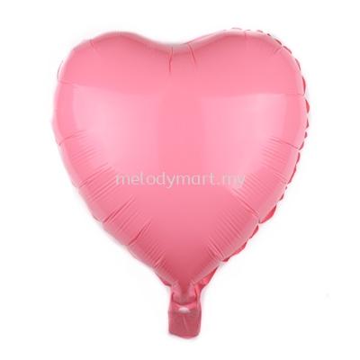 "Foil 18"" Macaron Heart - Pink"