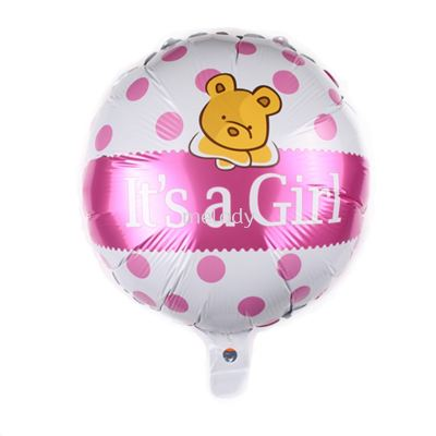 "Foil 18"" it's a Girl - Bear"