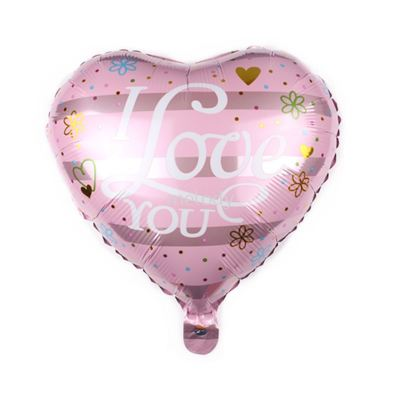 "Foil 18"" Heart - I Love U - Simple Love"