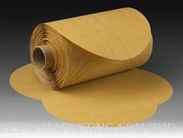 3M™ Stikit™ Gold Paper Disc Roll 216U, 5 in x NH - P100 (ABRLLMM1100003)