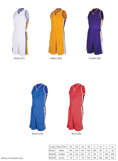 BASKETBALL JERSEY (DRY FIT)