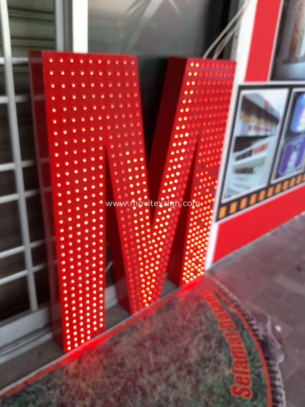 led dotted 3D mini light for building Signboard / Lighting Signboard  Johor Bahru (JB), Johor, Malaysia. Design, Supplier, Manufacturers, Suppliers | M-Movitexsign Advertising Art & Print Sdn Bhd