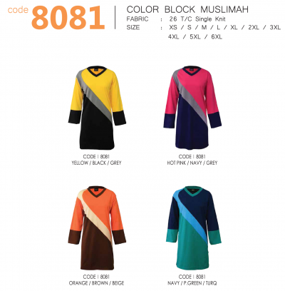 COLOR BLOCK MUSLIMAH