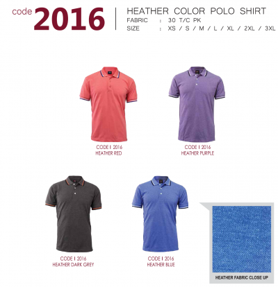 HEATHER COLOR POLO SHIRT