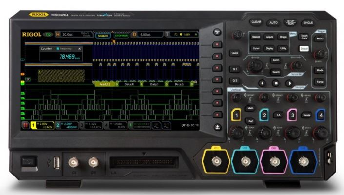 Rigol MSO5204 LA KIT - Four Channel, 200 MHz Mixed Signal Oscilloscope