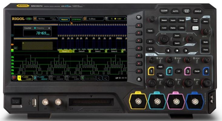 Rigol MSO5074 LA KIT - Four Channel, 70 MHz Mixed Signal Oscilloscope