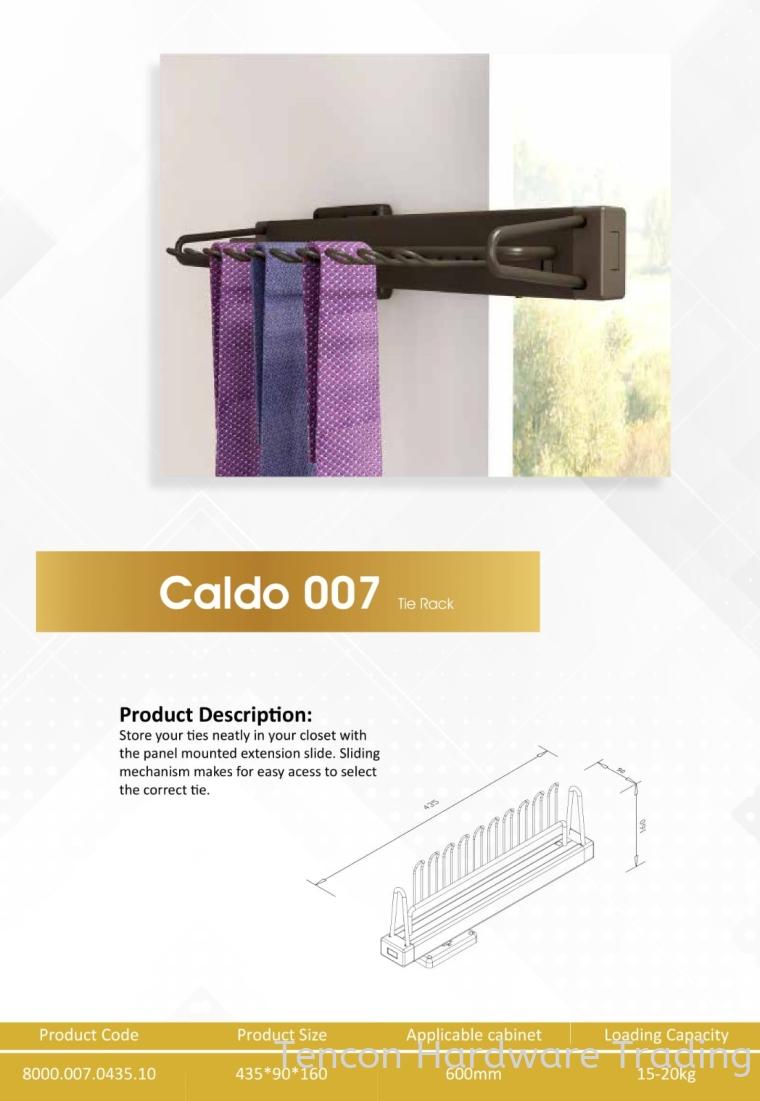 CALDO 007 TIE RACK 8000 SERIES CALDO WARDROBE ACCESSORIES Lufi Wardrobe Series
